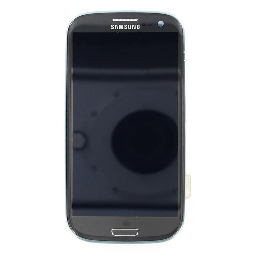 LCD display + Dotyk + Přední kryt Samsung i9300 Galaxy S3 Grey