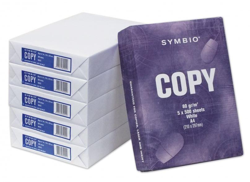 Kancelářský papír Symbio, A4, 80gr/m2, 500 listů, čistě bílý