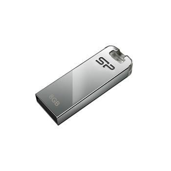 USB flash disk Silicon Power Touch T03, 8GB, USB 2.0, stříbrný