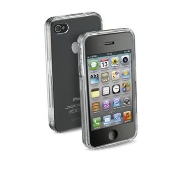 Zadní kryt CellularLine Invisible pro Apple iPhone 4/4S, průhledný + fólie