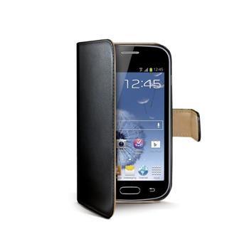 Pouzdro typu kniha CELLY Wally pro Samsung Galaxy Trend / Trend Plus, PU kůže, černé