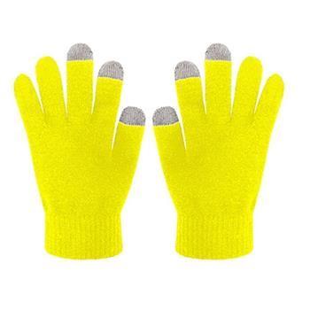 Zimní rukavice CELLY Touch Gloves pro ovládání kapacitních displejů, vel. S/M, žluté