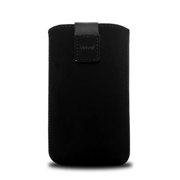 Univerzální pouzdro FIXED Velvet, mikroplyš, černé, velikost XL