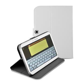 Pouzdro se stojánkem CellularLine Folio pro Samsung Galaxy Note 10.1 (2014 Edition), bílé