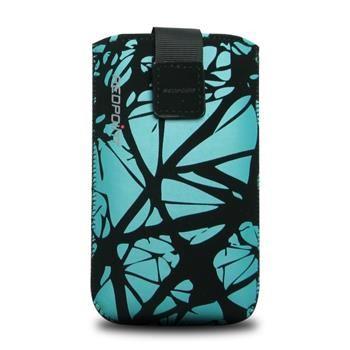 Univerzální pouzdro FIXED Velvet, mikroplyš, motiv Blue Cracks, velikost 5XL