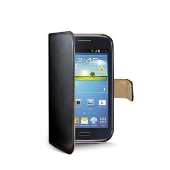Pouzdro typu kniha CELLY Wally pro Samsung Galaxy Core, GT-I8260, PU kůže, černé