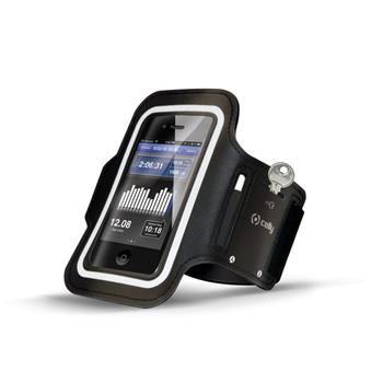 Sportovní neoprénové pouzdro CELLY, velikost XXL pro Samsung Galaxy S4 a telefony podobných rozměrů, černé