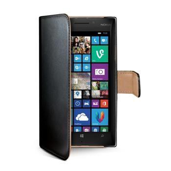 Pouzdro typu kniha CELLY Wally pro Nokia Lumia 930, PU kůže, černé