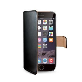 Pouzdro typu kniha CELLY Wally pro Apple iPhone 6 Plus / 6S Plus, PU kůže, černé
