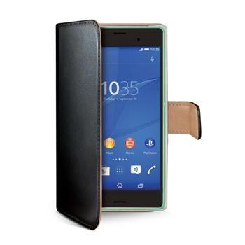 Pouzdro typu kniha CELLY Wally pro Sony Xperia Z3 Compact, PU kůže, černé