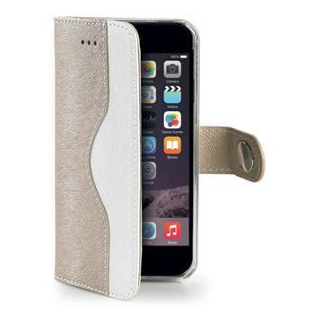 Pouzdro typu kniha CELLY Onda pro Apple iPhone 6/6S, eco kůže, zlaté
