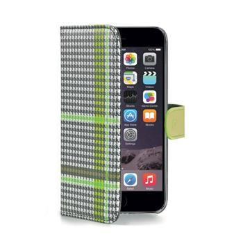 Pouzdro typu kniha CELLY Dandy pro Apple iPhone 6/6S, zelené