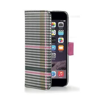 Pouzdro typu kniha CELLY Dandy pro Apple iPhone 6/6S, růžové