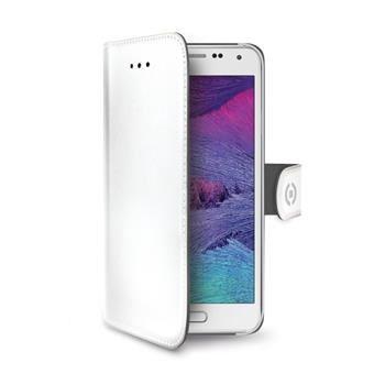 Pouzdro typu kniha CELLY Wally pro Samsung Galaxy S6, PU kůže, bílé