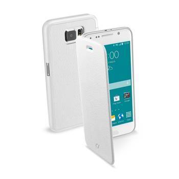 Pouzdro typu kniha CellularLine Book Essential pro Samsung Galaxy S6, bílé