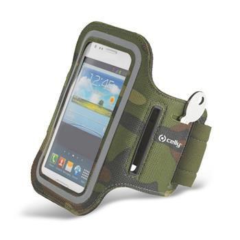 Sportovní neoprénové pouzdro CELLY, velikost 3XL pro Apple iPhone 6 Plus a telefony podobných rozměrů, zelené