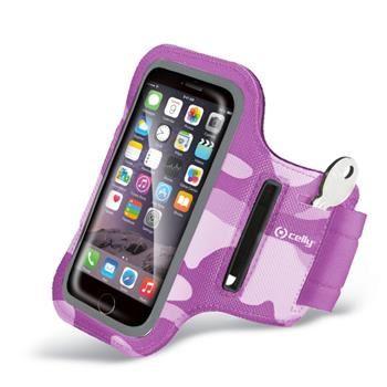 Sportovní neoprénové pouzdro CELLY, velikost 3XL pro Apple iPhone 6 Plus a telefony podobných rozměrů, růžové