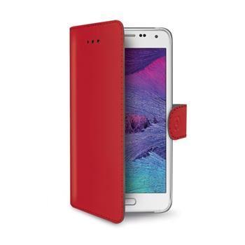 Pouzdro typu kniha CELLY Wally pro Samsung Galaxy S6, PU kůže, červené