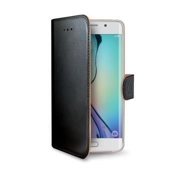 Pouzdro typu kniha CELLY Wally pro Samsung Galaxy S6 Edge, PU kůže, černé