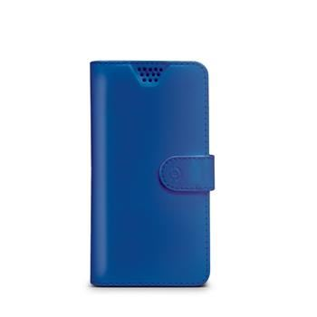 "Pouzdro typu kniha CELLY Wally Unica, velikost L, 4"" - 4.5"", modré"