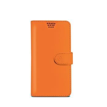 "Pouzdro typu kniha CELLY Wally Unica, velikost L, 4"" - 4.5"", oranžové"