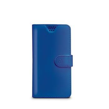 "Pouzdro typu kniha CELLY Wally Unica, velikost M, 3.5"" - 4"", modré"