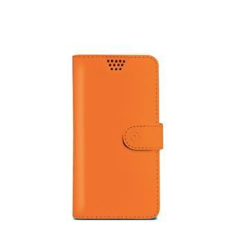 "Pouzdro typu kniha CELLY Wally Unica, velikost M, 3.5"" - 4"", oranžové"