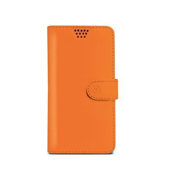 "Pouzdro typu kniha CELLY Wally Unica, velikost XL, 4.5"" - 5"", oranžové"