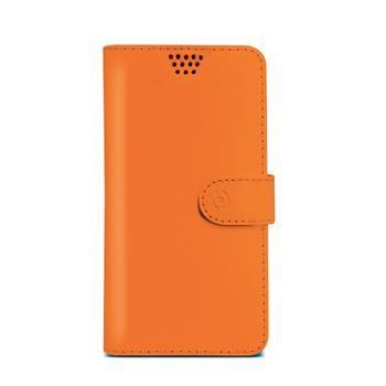 "Pouzdro typu kniha CELLY Wally Unica, velikost XXL, 5"" - 5.7"", oranžové"