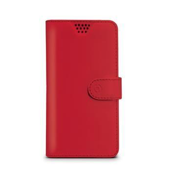 "Pouzdro typu kniha CELLY Wally Unica, velikost XXL, 5"" - 5.7"", červené"