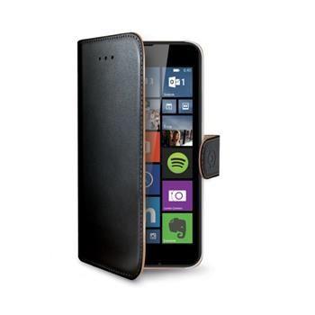 Pouzdro typu kniha CELLY Wally pro Microsoft Lumia 640 / 640 Dual SIM, PU kůže, černé - pouze pro černou/bílou variantu