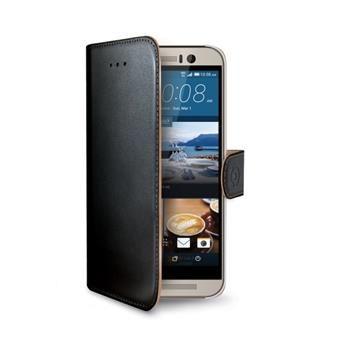 Pouzdro typu kniha CELLY Wally pro HTC One (M9), PU kůže, černé
