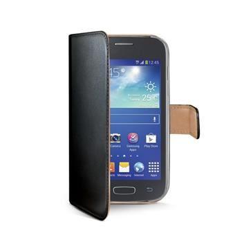 Pouzdro typu kniha CELLY Wally pro Samsung Galaxy Ace 4, PU kůže, černé