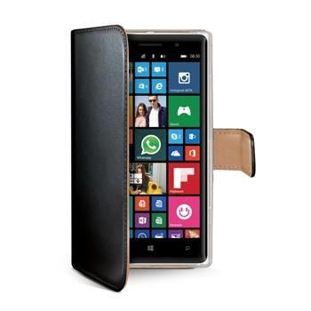Pouzdro typu kniha CELLY Wally pro Nokia Lumia 830, PU kůže, černé