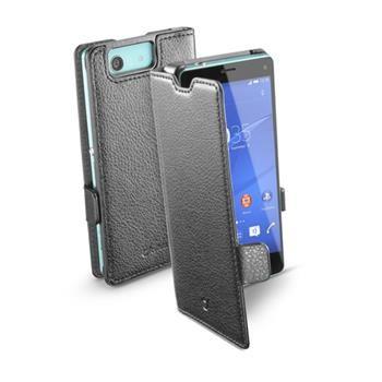 Pouzdro typu kniha CellularLine Book Essential pro Sony Xperia Z3 Compact, černé