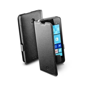 Pouzdro typu kniha CellularLine Book Essential pro Nokia Lumia 630, černé