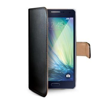 Pouzdro typu kniha CELLY Wally pro Samsung Galaxy A3, PU kůže, černé