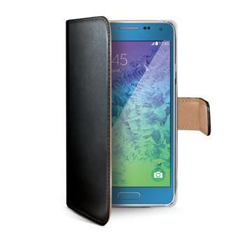 Pouzdro typu kniha CELLY Wally pro Samsung Galaxy A7, PU kůže, černé