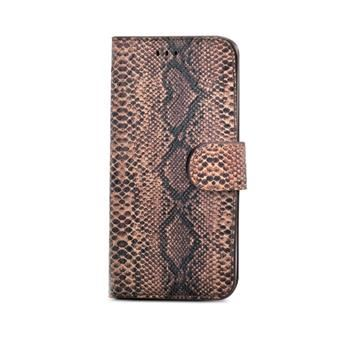 Pouzdro typu kniha CELLY Snake LUXURY pro Apple iPhone 6 Plus / 6S Plus, kůže, bronzové