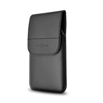 Pouzdro FIXED Pocket s klipem, PU kůže, velikost 6XL, černé matné