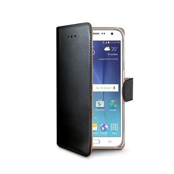 Pouzdro typu kniha CELLY Wally pro Samsung Galaxy J5, PU kůže, černé