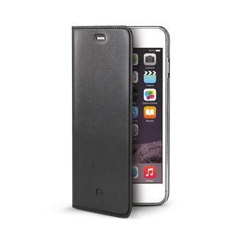 Ultra tenké pouzdro typu kniha CELLY Air pro Apple iPhone 6/6S, PU kůže, černé