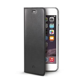 Ultra tenké pouzdro typu kniha CELLY Air pro Apple iPhone 6/6S Plus, PU kůže, černé