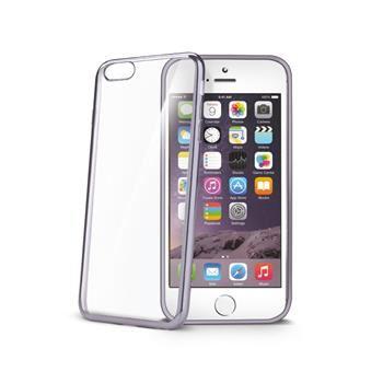TPU pouzdro CELLY Laser - lemování s kovovým efektem pro Apple iPhone 6/6S, černé