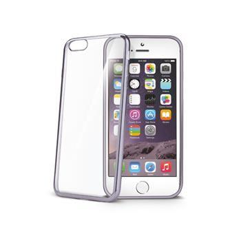 TPU pouzdro CELLY Laser - lemování s kovovým efektem pro Apple iPhone 6 Plus / 6S Plus, černé
