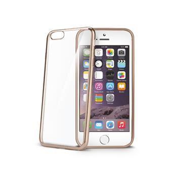 TPU pouzdro CELLY Laser - lemování s kovovým efektem pro Apple iPhone 6 Plus / 6S Plus, zlaté