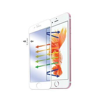 Ochranné tvrzené sklo CELLY Glass pro Apple iPhone 6/6S, bílé (sklo do hran displeje, anti blue-ray)