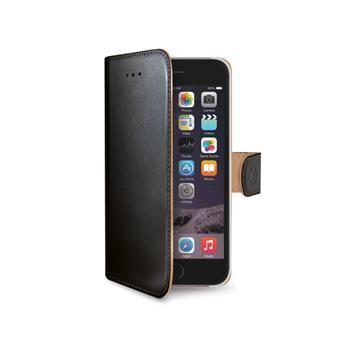 Pouzdro typu kniha CELLY Wally pro Apple iPhone 6/6S, PU kůže, černé