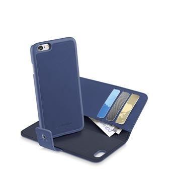 Pouzdro typu kniha CellularLine COMBO 2v1, odnímatelný zadní kryt, pro Apple iPhone 6/6S, modré