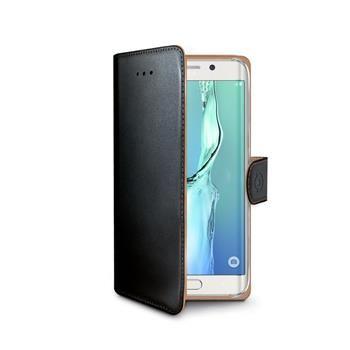 Pouzdro typu kniha CELLY Wally pro Samsung Galaxy S6 Edge Plus, PU kůže, černé